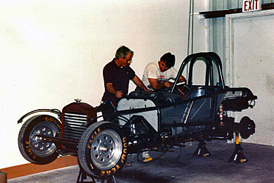 Tony and his dad Roland starting the work on the 27 Roadster, they got the car without a motor.